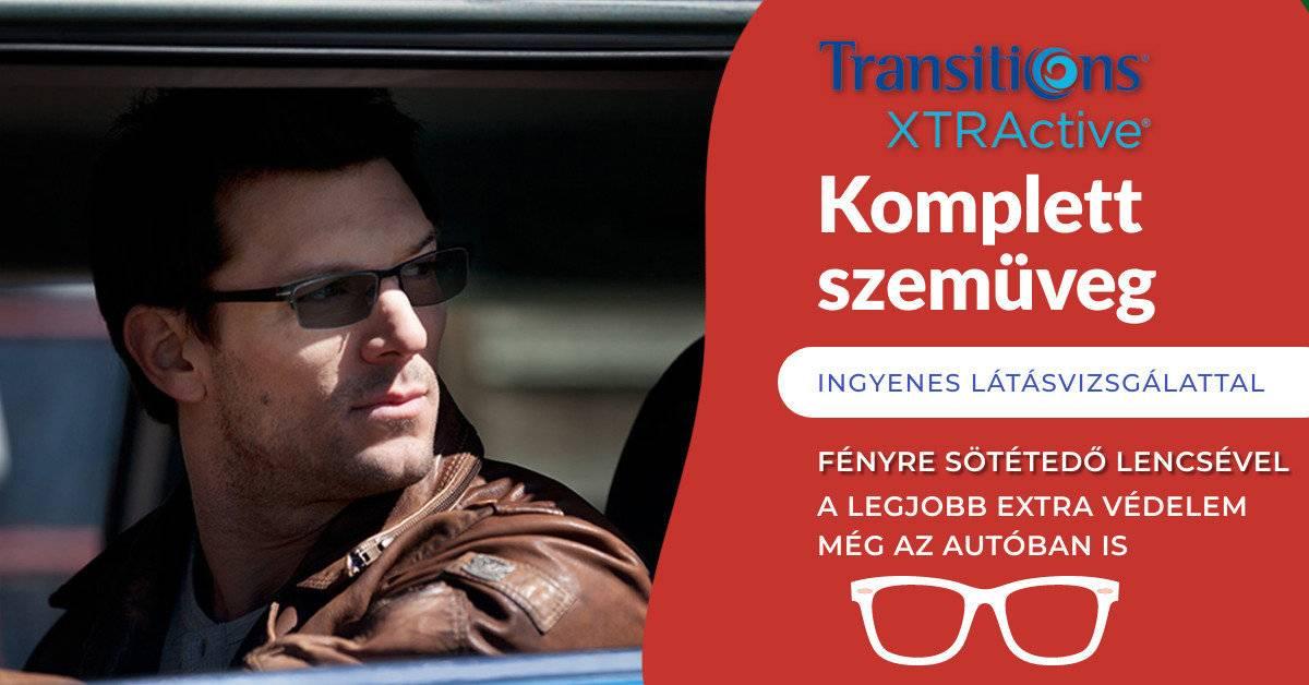 Transitions XTRActive szemüveglencse